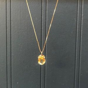 14k gold and citrine necklace